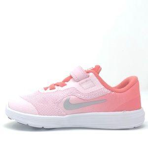 TDV 819418-602 Arctic Pink White Toddler Girl/'s Shoes NEW! Nike Revolution 3